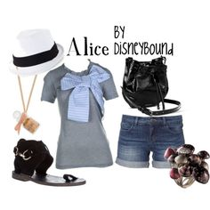 Casual Alice, love the mushroom ring. Disney Dresses, Disney Outfits, Disney Clothes, Disney Inspired Fashion, Disney Fashion, Disneybound Outfits, Summer Outfits, Cute Outfits, Pink Outfits
