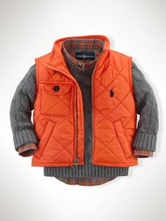 Richmond Pony Bomber Vest - Outerwear & Jackets   Infant Boy (9M–24M) - http://RalphLauren.com