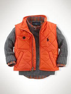 Richmond Pony Bomber Vest - Outerwear & Jackets  Infant Boy (9M–24M) - http://RalphLauren.com