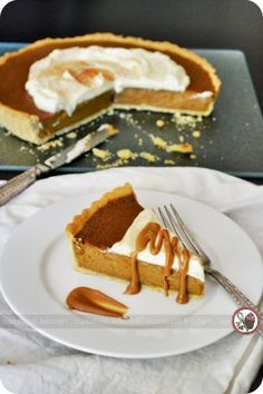 Biscoff Pumpkin Pie. -This recipe puts a spin on the traditional pumpkin pie by adding Biscoff spread to the pumpkin filling. The result is delicious!