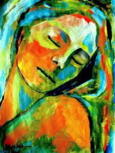 Helena Wierzbicki, argentina, Healing emotion, acrílico sobre tela