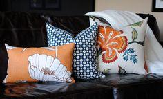 Beautiful Decorative Pillow Cover-18x18-COTTON-Betwixt-Indigo/Ivory-Celerie Kemble-Throw Pillow-Accent Pillow. $52.00, via Etsy.