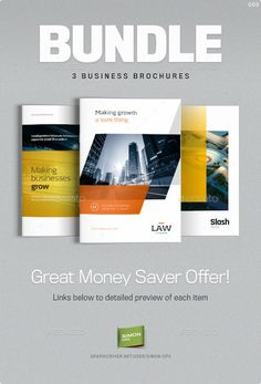Brochure Bundle - Templates for Indesign  #design Download: http://graphicriver.net/item/brochure-bundle-templates-for-indesign/12532589?ref=ksioks