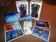 """Disney Store Limited Edition 17"""" Frozen Anna and Elsa Designer Dolls AND EXTRAS"""