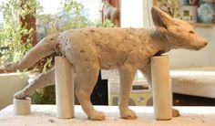 Fox Cub Sculpture : Nick Mackman Animal Sculpture