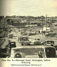 Holmesglen - Before the widening of Warrigal Road. Eureka Tower, Melbourne Suburbs, The 'burbs, Melbourne Victoria, Old Photos, Vintage Photos, Historical Pictures, Melbourne Australia, Historic Homes