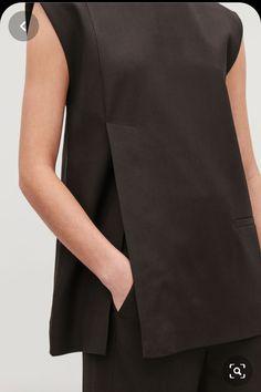 Model side image of Cos tailored waistcoat top in burgundy Fashion Details, Look Fashion, Womens Fashion, Fashion Design, Wardrobe Sale, Diy Kleidung, Moda Chic, Minimal Fashion, Mode Inspiration