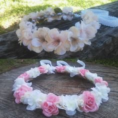 Brand new flower crown designs listed in the shop this morning. Loving the rustic feel to these beauties . Crowns will fit both adult or child so anyone can wear them!  Find them at  Dieselboutique.etsy.com  #bohobride #flowergirl #coachella #rustic #festival  #lace #flowercrowns #boho #bohemian #gypsy #hippie #romantic #babysbreath #flowercrown #pinkwedding #bohochic #rusticwedding #pearls #goodvibesonly #burlap #weddinginspo #maidofhonor #bohemianwedding #hawaiian #lei #bohowedding…