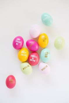 Typography Eggs Will Personalize Your Easter Party