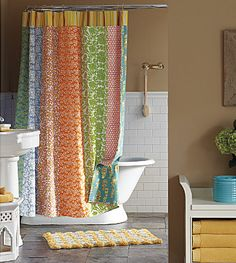 curtain (or shower curtain)