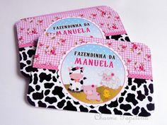 Adesivo para caixa de ovos - Fazendinha - Charme Papeteria #fazendinha #rosa #personalizada #delicada #menina #rótulos #CharmePapeteria