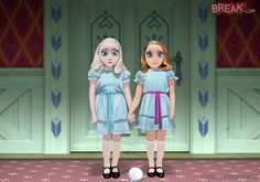Hermanas de la película frozen como las gemelas del resplandor