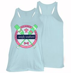 Simply Southern Preppy Classy Happy Tank Top in Blue