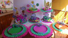 DECORACIONES INFANTILES: octubre 2012 Diy Party Decorations, Birthday Decorations, Tinkerbell Party, Birthday Cake, Birthday Parties, Ideas Para Fiestas, Minnie Mouse, Centerpieces, Birthdays