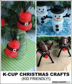 Christmas crafts you can make with K-cups courtesy of the Cross Country Cafe