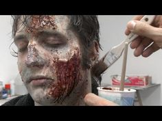 "Zombie Make-Up Tips for Halloween: Inside The Walking Dead - Makeup Effects wizard and ""The Walking Dead"" consulting producer Greg Nicotero gives some tips on how to do your zombie makeup this halloween. Dead Makeup, Fx Makeup, Makeup Tips, Makeup Ideas, Makeup Contouring, Cosplay Makeup, Zombie Pub Crawl, Zombie Walk, Halloween Cosplay"