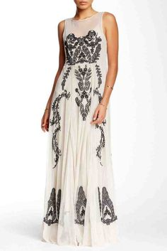 Embroidered Lace Maxi Dress by Biya Sponsored by Nordstrom Rack. Elegant Wedding Dress, Wedding Dress Styles, Elegant Dresses, Wedding Gowns, Modest Wedding, Nordstrom Wedding Dresses, Fancy Gowns, Wedding Dress Pictures, Petite Dresses