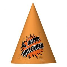 #Happy Halloween Party Hat - #halloween #party #stuff #allhalloween All Hallows' Eve All Saints' Eve #Kids & #Adaults