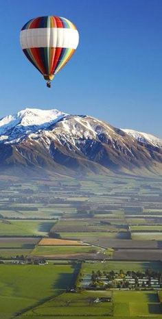 To the NZ list: Hot air ballooning, potentially like here in this photo of rural Christchurch!