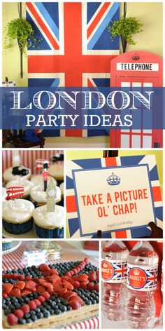 London is calling at this boy birthday party with lots of amazing British elements!  See more party ideas at CatchMyParty!