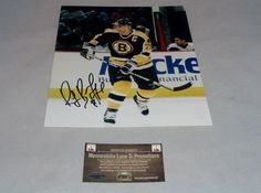 Ray Bourque Autographed 8X10 COA Boston Bruins Memorabilia Lane & Promotions