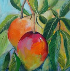 paintings of mangos | Art By The River: Two (more) Mangoes #MangoverMothersDay