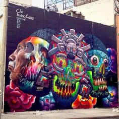 vida y muerte el ciclo street art in mexico by artist cix and irvin cano