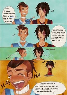 Sokka and zuko, I am laughing way too hard at this! and Zuko is like totally clueless. Avatar The Last Airbender Funny, The Last Avatar, Avatar Funny, Avatar Airbender, Avatar Zuko, Team Avatar, Tmnt, Legend Of Aang, Atla Memes