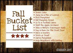 Fall Bucket List - Ideas for a Festive Fall