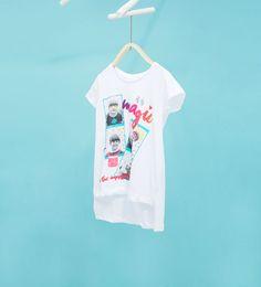 ZARA - NIÑOS - Camiseta estampado y brillo