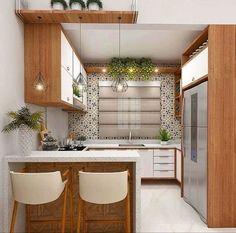 35 suprising small kitchen design ideas and decor 20 - Kitchen Furniture Kitchen Room Design, Best Kitchen Designs, Kitchen Sets, Modern Kitchen Design, Home Decor Kitchen, Interior Design Kitchen, Kitchen Furniture, New Kitchen, Home Kitchens