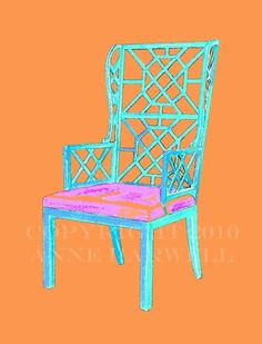CHINOISERIE CHAIR on Color Steroids by annechovie on Etsy, $30.00