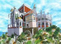 Digital reconstruction of the Villa Jovis, Capri