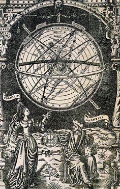 Simon de Colines. Oronce Finé's De Mundi Sphaera, Sive Cosmographia. 1542.