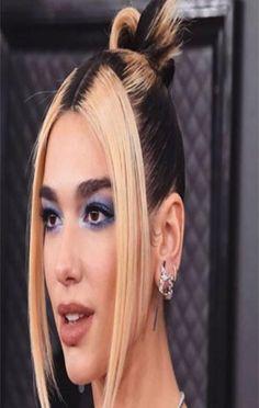 Dua Lipa make Grammy 2020 Bold Hair Color, Hot Hair Colors, Makeup Trends, Hair Trends, Beauty Trends, Summer Hairstyles, Cool Hairstyles, 2000s Hairstyles, Two Toned Hair
