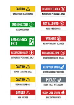 Safety Signs Restricted Signs, warehouse signs