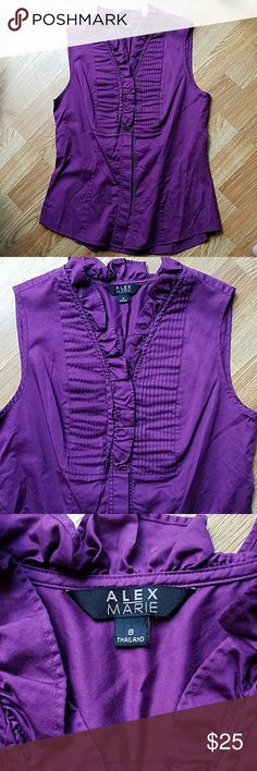 Beautiful Alex Marie Top, Like New Gorgeous color! Size 8, or S/M. Only worn once for an interview! Alex Marie Tops Blouses