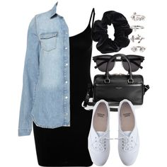 Style #8292 by vany-alvarado on Polyvore featuring Magic Body Fashion, American Apparel, Yves Saint Laurent and NLY Trend