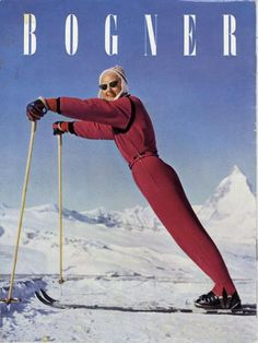 vintage ski fashion - BOGNER