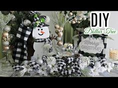 In today's video I am so excited to share with you a DIY Dollar Tree Centerpiece and some other fun and. Dollar Tree Gifts, Dollar Tree Christmas, Dollar Tree Decor, Dollar Tree Store, Christmas Signs, Christmas Crafts, Christmas Items, Rustic Christmas, Christmas Holiday