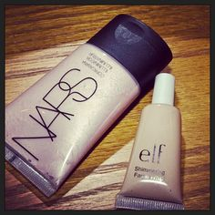 Same thing, but the ELF version is $1! #dupes NARS Illuminator vs Elf's Shimmering Facial Whip