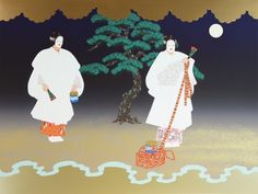 MATSUKAZE Noh Silkscreen Print  Feelings of love cannot ever be forgotten