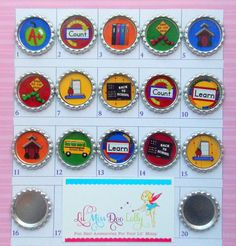 YOU Design Bottlecap Badge ReelBack To by LilMissDooLolly on Etsy, $5.00