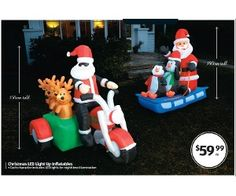 Christmas LED Light Up Inflatables