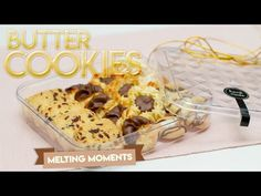 How to make Butter Cookies ❤️ easy butter cookies recipe ❤️ melting moments❤️ CNY Cookies Cookie Box, Cookie Gifts, Japanese Cookies, Danish Cookies, The Joy Of Baking, Melting Moments, Butter Cookies Recipe, Melting Chocolate, Cookie Decorating
