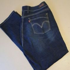 Levi's 529 Curvy Skinny jeans Dark wash curvy skinny jeans, worn once, great condition. Levi's Jeans Skinny