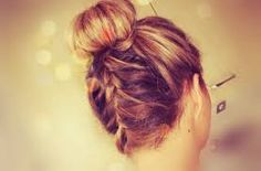 bun and braid Latest Hairstyles, Short Hairstyles For Women, Fancy Pants, Bobby Pins, Short Hair Styles, Braids, Hair Beauty, Hair Accessories, Dreadlocks