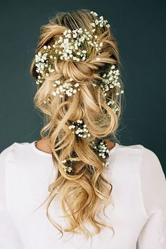 33 Gorgeous Blooming Wedding Hair Bouquets ❤ See more: http://www.weddingforward.com/blooming-wedding-hair-bouquets/ #weddings #hairstyles