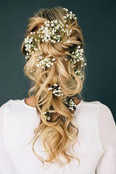 33 Gorgeous Blooming Wedding Hair Bouquets ❤ See more: http://www.weddingforward.com/blooming-wedding-hair-bouquets/ #weddings #hairstyles