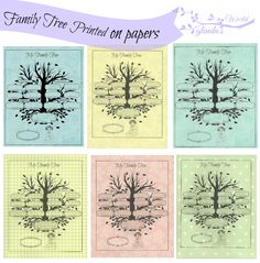 Free-download Family Tree printed on Baby Papers (6)